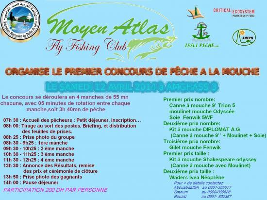 Concours de Pêche à la Mouche à Amghass III Le Samedi 12 Avril 2014